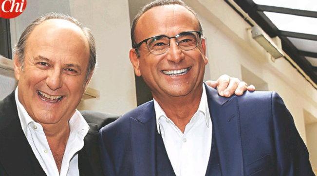 """Gerry Scotti e Carlo Conti dopo il Covid: """"C'è stata una fratellanza di virus che ci ha legato"""""""