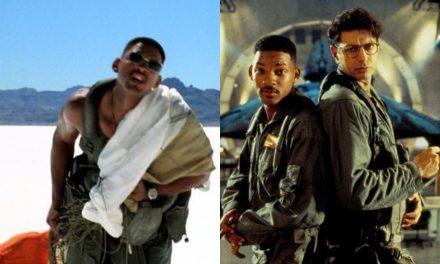Independence Day: i problemi con il caldo torrido e la battuta improvvisata da Will Smith mentre trasporta l'alieno