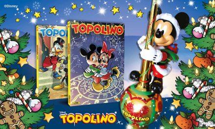TOPOLINO rende magico il Natale. Per tutto dicembre storie emozionanti e gadget. Si comincia con gli addobbi per l'albero, con i numeri 3393 e 3394 .
