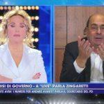 """Nicola Zingaretti difende Barbara D'Urso: """"Hai portato la politica vicino alla gente"""""""
