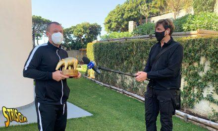 Antonio Cassano riceve il Tapiro d'oro: «Con Totti uscivamo tutta la notte, certe volte si andava direttamente a Trigoria»