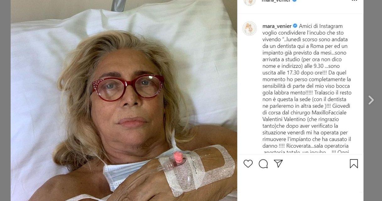 """Mara Venier: """"La paresi è rimasta, quell'intervento ai denti mi ha rovinato la vita"""""""
