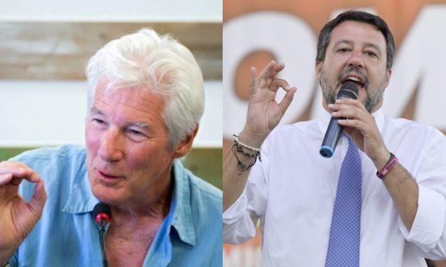 Richard Gere testimone contro Matteo Salvini