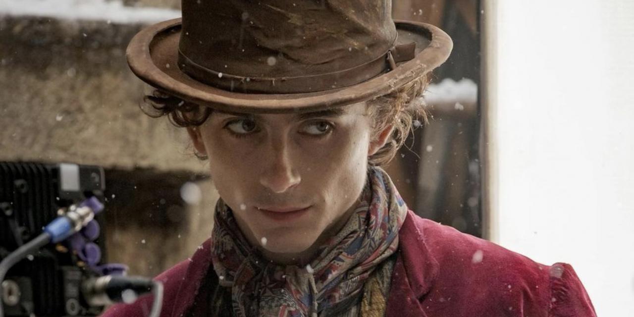 Timothée Chalamet condivide la prima foto nei panni di Willy Wonka